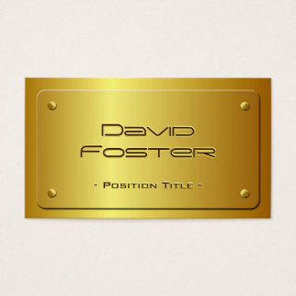 Embossed Gold Plate Look - Shiny Luxury Business Card