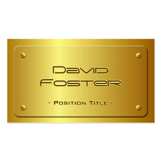 Embossed Gold Plate Look - Shiny Luxury Pack Of Standard Business Cards