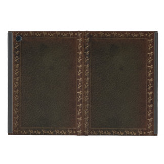 Embossed Leather book cover Covers For iPad Mini