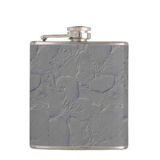 Embossed leather look of beautiful blossoms hip flask