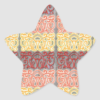Embossed Look ARTISTIC Deco NVN176 NavinJOSHI FUN Star Sticker