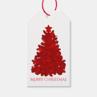 Embossed Look Red Christmas Tree