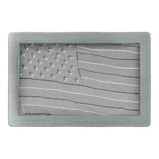 Embossed looking American flag Rectangular Belt Buckle