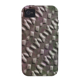 Embossed Metal Effect iPhone4 Case Vibe iPhone 4 Cover