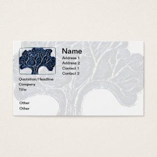 Embossed Metal Tree - Blue