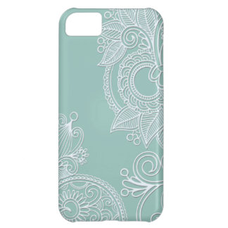 Embossed Mint Paisley iPhone 5C Case
