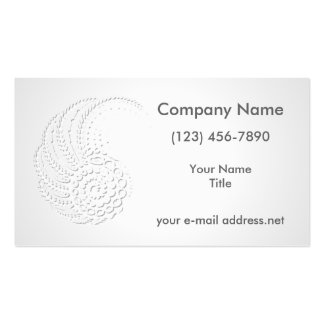 Embossed Organic Pack Of Standard Business Cards