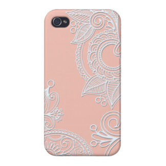 Embossed Paisley - Pink Cover For iPhone 4