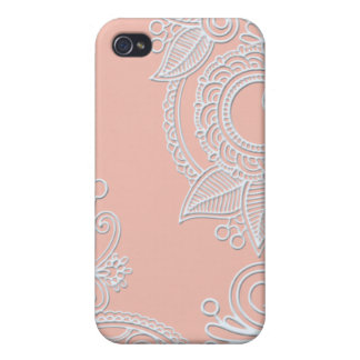 Embossed Paisley - Pink Case For iPhone 4