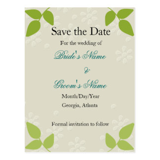 Embossed - Save the Date card Postcard