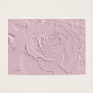 Embossed Soft Pink Rose Business Card