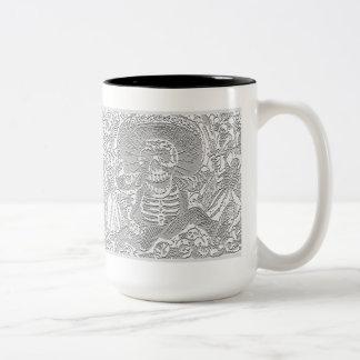Embossed Style Skull Mug