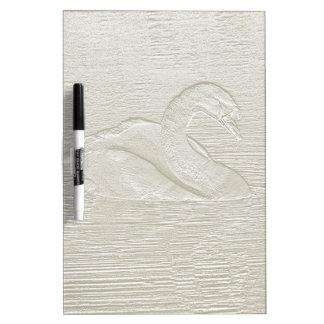 Embossed Swan effect dry wipe board