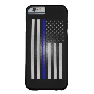 Embossed Thin Blue Line Flag Fitted Barely There iPhone 6 Case