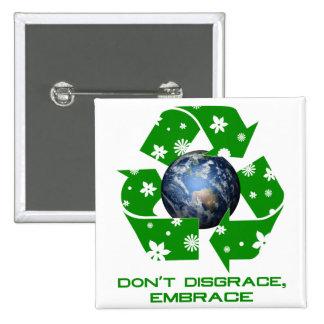 Embrace 15 Cm Square Badge