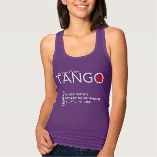 Embrace - A Tango Haiku - My Heart Confesses Tank Top