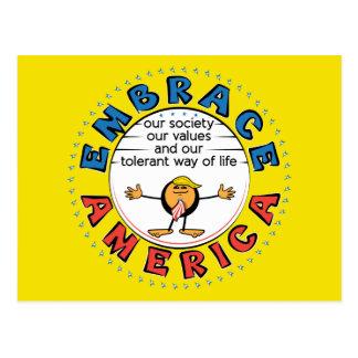 EMBRACE AMERICA President Trump Caricature Postcard