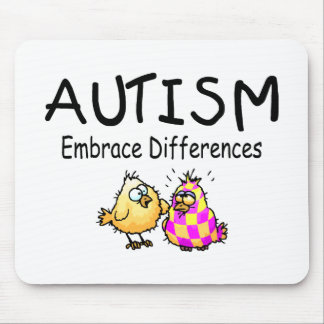 Embrace Differences (2 chicks) Mouse Pad
