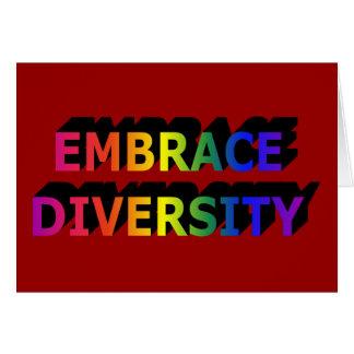 Embrace Diversity Notecard Note Card