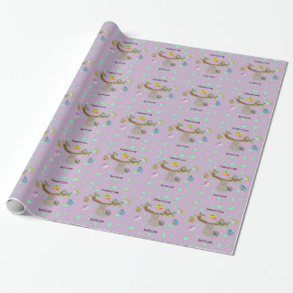 Embrace Lazy Sloths - Wrapping Paper