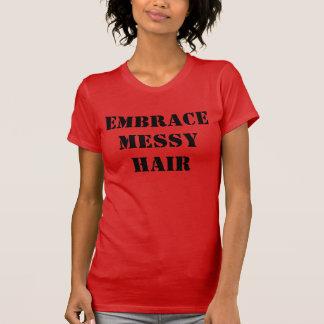 Embrace Messy Hair Women's Jersey T-Shirt, Red T-Shirt