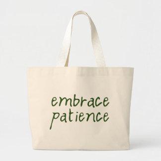 Embrace Patience Jumbo Tote Bag
