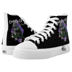 Embrace The Dark Ghosthunting Raven High Tops