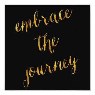 Embrace The Journey Quote Gold Faux Foil Courage 13 Cm X 13 Cm Square Invitation Card