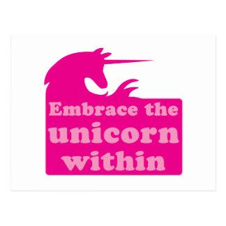 embrace the unicorn within postcard