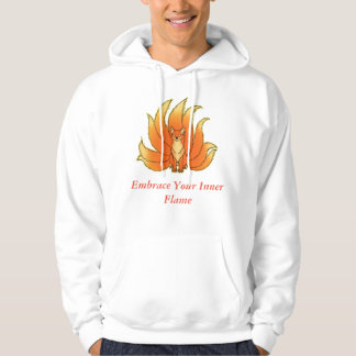 Embrace Your Inner Flame - Yellow Fire Kitsune Hoodie