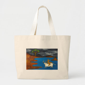 Embraced By the Dark Dark Night Large Tote Bag