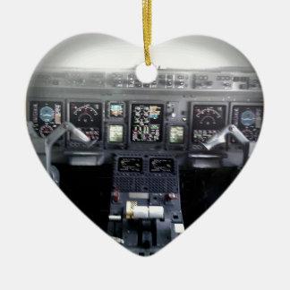 Embraer 145 Flight Deck Ceramic Heart Decoration