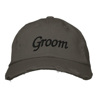 Embroider Gifts Groom Hat | Cap Embroidered Baseball Cap