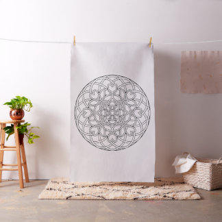Embroider Your Own Abstract Heart Mandala Fabric