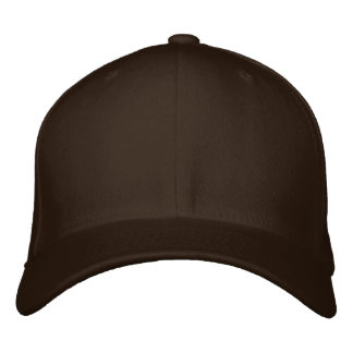Embroider your own Brown Flexfit Wool Cap Embroidered Baseball Cap