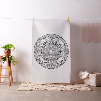 Embroider Your Own Mountain Goats Mandala Fabric