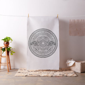 Embroider Your Own Ostrich Mandala Fabric