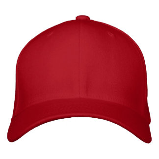 Embroider your own RED Flexfit Wool Cap Embroidered Baseball Cap