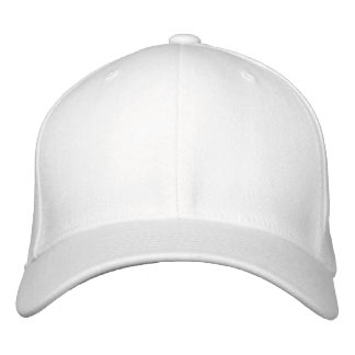 Embroider your own White Flexfit Wool Cap Embroidered Hats