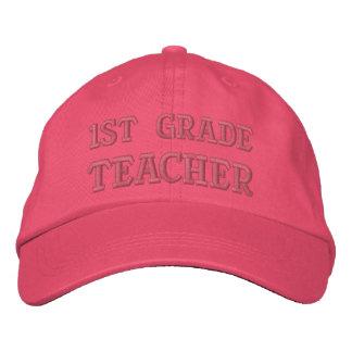 Embroidered 1st Grade Teacher Hat