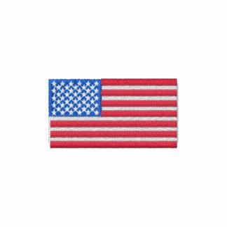 Embroidered American Flag Polo Shirt