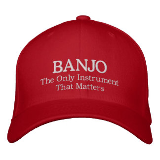 Embroidered Banjo Hat With Slogan