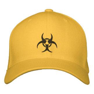 Embroidered Biohazard Symbol Hat Embroidered Baseball Cap