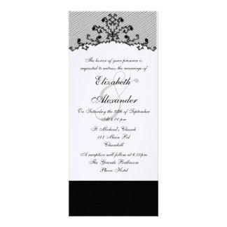 Embroidered Black Lace Invitation