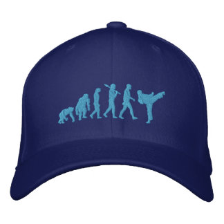 Embroidered Blue Belt Martial Artists Karate Cap Embroidered Hat