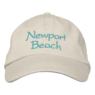 Embroidered California hats. Newport Beach Embroidered Cap