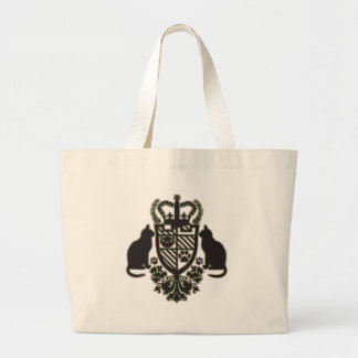 Embroidered_Cat Jumbo Tote Bag