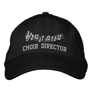 Embroidered Choir Director Music Hat Cap Embroidered Hat
