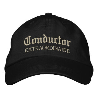 Embroidered Conductor Extraordinaire Music Cap Embroidered Hat
