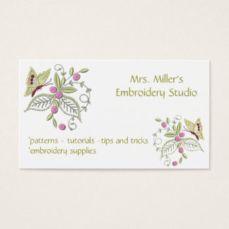 123 Embroidery Business Cards And Embroidery Business
